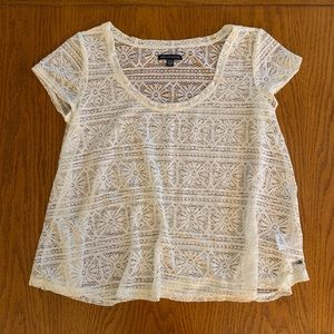 American Eagle Crocheted Top